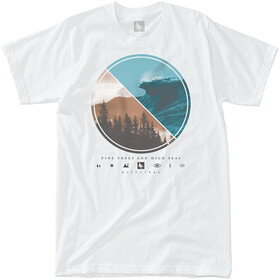 Hippy Tree Lens T-Shirt Heren, white